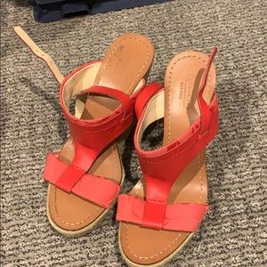 Coach wedge heels - Salmon